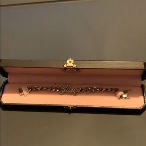Juicy Couture Silver Script Bracelet